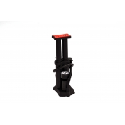 """Foot pump BEE FP 0908E double 24 """"-28""""  pressure gauge, black"""
