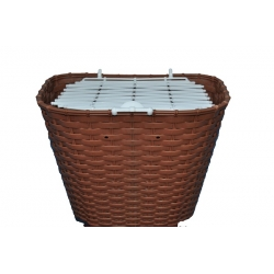 Basket 26 VERONA plastic wicker brown