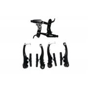 Гальма V-brake Ares мод. HVK140 з торм. ручками HBL10 повний кп., чорні