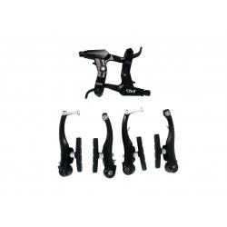 V-brake Ares brake mod. HVK140 with brakes. handles HBL10 full kp., black
