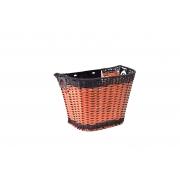 Корзина Ardis JL-CK101 на кермо пластик плетена з кріпленням коричневий