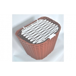 Basket 28 MESSINA  plastic wicker brown