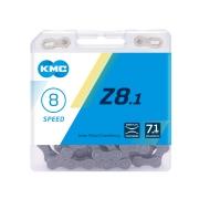 Ланцюг KMC X8 1/2х3/32х116L сріблястий/сірий, 8шв.