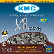 Ланцюг KMC 8sp X8EPT (EPT) 1/2x3/32x116L