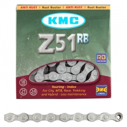 "Chains KMC 7sp Z51RB ""rust buster"" 1/2x3/32x116L"