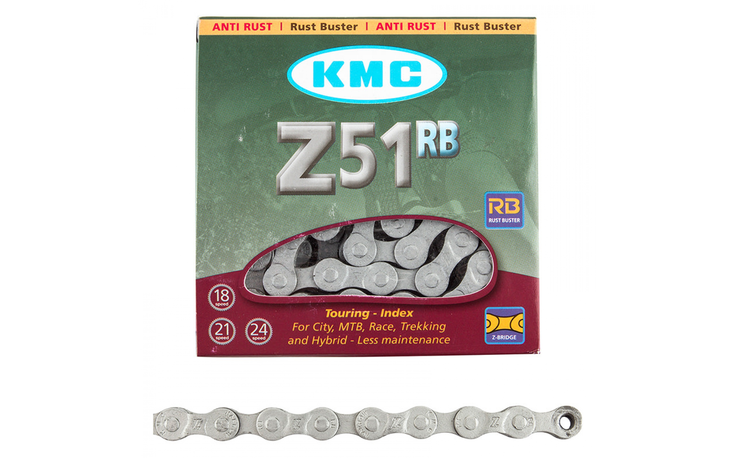 """Chains KMC 7sp Z51RB """"rust buster"""" 1/2x3/32x116L, KMC chains., Chains."""