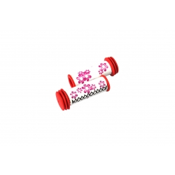 Ручки керма CROSSRIDE 102мм CR-G111 біло-червоні