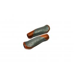 Ручки керма CROSSRIDE 135мм CR-G302 коричнево-сірі