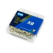 Chain KMC 8sp X8 silver 1/2x3/32x116L