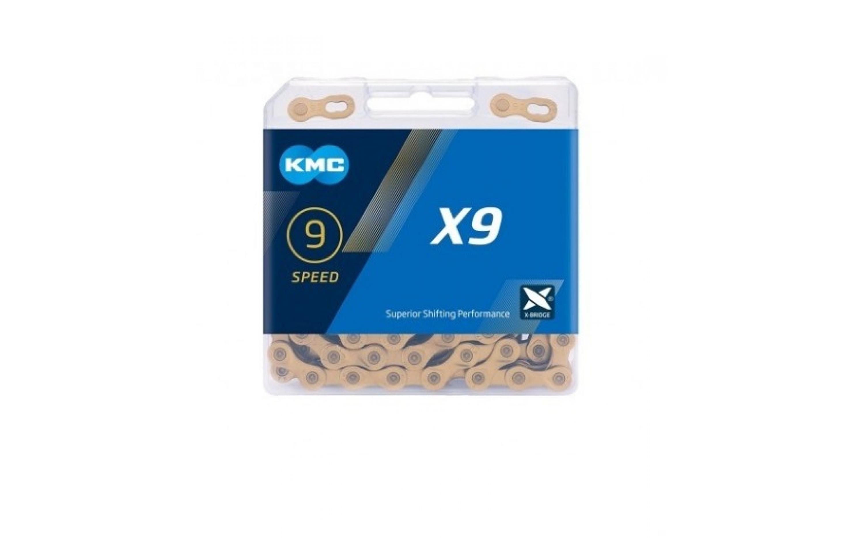 Chain KMC 9sp X9 silver 1/2x11/128x116L, KMC chains., Chains.