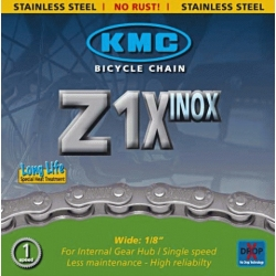 "Ланцюг KMC Z1X (S10) ""INOX"" 1/2х1/8х112L, 1шв."