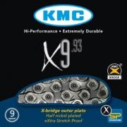 Ланцюг KMC X9.93 1/2х11/128х116L, 9шв.