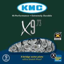 Ланцюг KMC X9.73 1/2х11/128х116L, 9шв.
