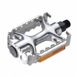 Pedals Neco aluminum silver 103х72mm, WP895