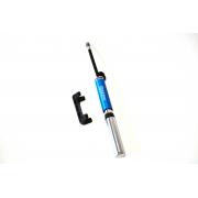 Bike pump BEE M19-01V, aluminium Blue
