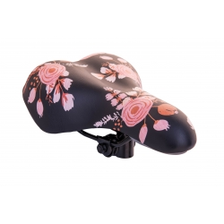 Saddle child Baisike 270x190mm black-flowers, spring СТ, N663-A
