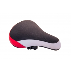 Saddle child Baisike 230x155mm black-white-red 903-A
