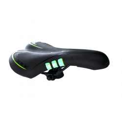 MTB saddle Baisike 275x160 black and green no. 852