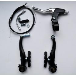 Гальма V-brake Sypo YD-V26 120мм передні, чорні, гальмівна ручка АЛ YD-B05 ліва, трос та рубашка (п:800х410мм)