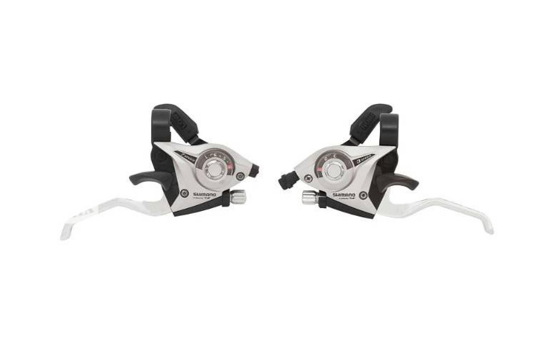 Шифтер Shimano Tourney ST-EF51 8 шв. + тросик сріблястий, SHIMANO, Shifters and gripshifters.