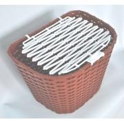 Корзина 28 тип MESSINA пластикова плетена, корич.