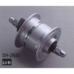 Втулка передня Shimano DH-2Т35 динамо 6V2,4W, сріб.