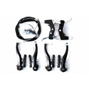 Гальма V-brake Sypo YD-V26 120мм передні та задні, чорні, гальмівні ручки АЛ YD-B05, троси та рубашки (п:800х410мм/з:1400х1100мм)