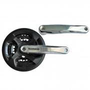Шатун Shimano FC-TY301, 170mm, 42x34x24T, з чорн. захистом ланцюга