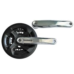 Chainwheel Shimano FC-TY301, 170mm, 42x34x24T, black guard