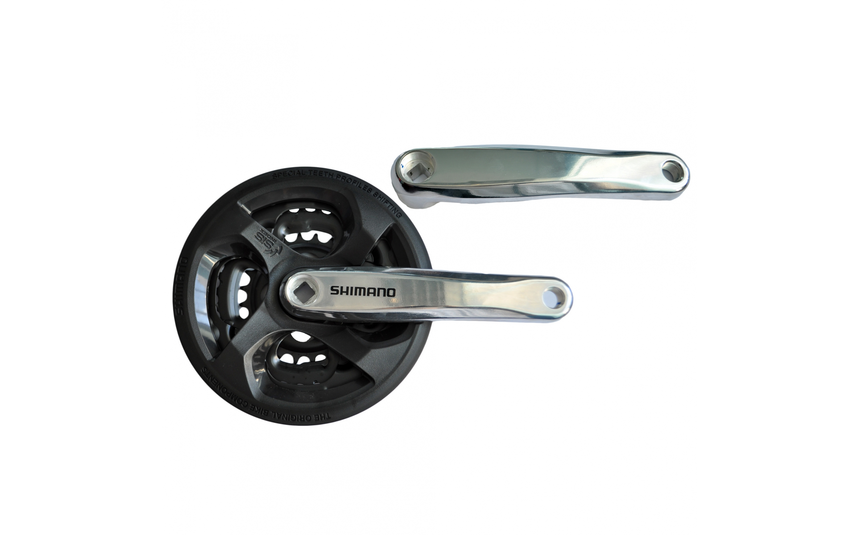 Chainwheel Shimano FC-TY301, 170mm, 42x34x24T, black guard, SHIMANO, Chainwheels.