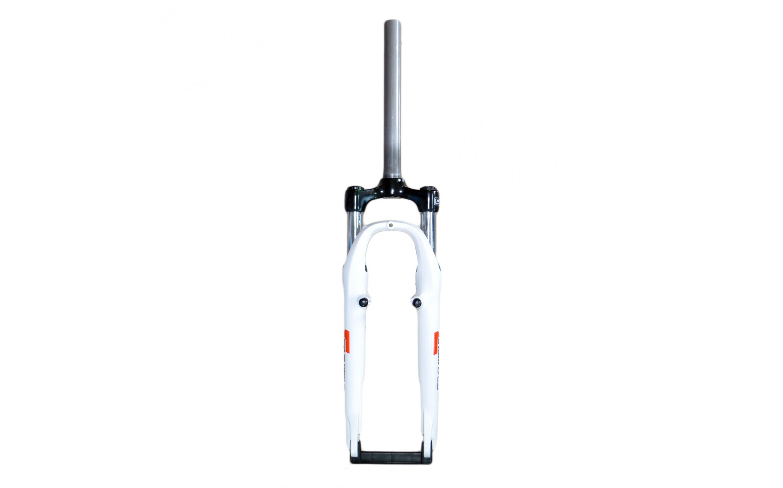 """Вилка 24 Suntour M3020, хід: 50мм, V-brake, шток: 1-1/8"""" 260 мм, біла, , Forks."""