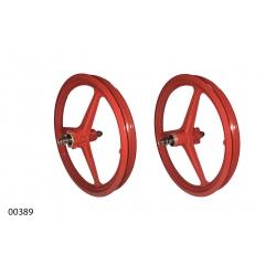 """Wheels ZHEMEI 16"""" MG red DB freewheel, ZM-MD3B1"""