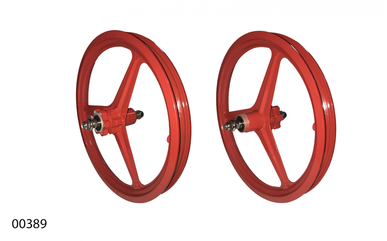 """Wheels ZHEMEI 16"""" MG red DB freewheel, ZM-MD3B1, ZHEMEI wheels, Wheels."""