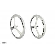 "Wheels ZHEMEI 24"" MG white DB freewheel, ZM-MD341"