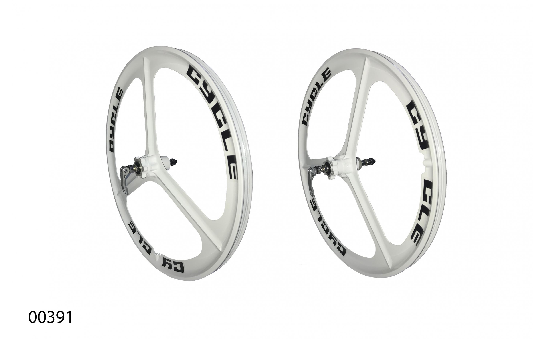 """Wheels ZHEMEI 24"""" MG white DB freewheel, ZM-MD341, ZHEMEI wheels, Wheels."""