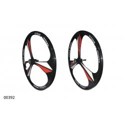 "Wheels ZHEMEI 26"" MG black DB freewheel, ZM-MD362"