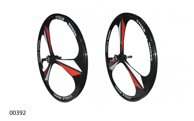"""Wheels ZHEMEI 26"""" MG black DB freewheel, ZM-MD362, ZHEMEI wheels, Wheels."""