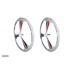 "Wheels ZHEMEI 26"" MG white DB freewheel, ZM-MD362"