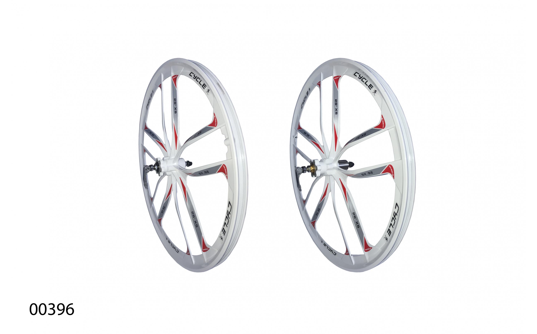 "Колеса литі ZHEMEI литі 26"" MG білі DB касета, ZM-MD061, ZHEMEI wheels, Wheels."