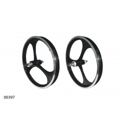 """Wheels ZHEMEI 16"""" АЛ black V-brake freewheel, ZM-MD3B1"""