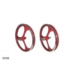 """Колеса литі ZHEMEI 16"""" АЛ червоні V-brake вільнобіг, ZM-MD3B1"""