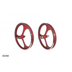 "Wheels ZHEMEI 16"" MG red V-brake freewheel, ZM-MD3B1"