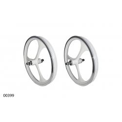 """Wheels ZHEMEI 16"""" АЛ white V-brake freewheel, ZM-MD3B1"""